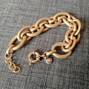J. Crew Gold tone Chunky Chain Link Bracelet